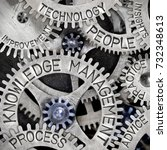 macro photo of tooth wheel... | Shutterstock . vector #732348613