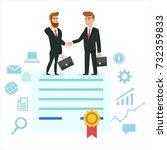 handshake of business people on ...   Shutterstock .eps vector #732359833