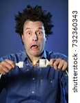 funny portraits of a guy who... | Shutterstock . vector #732360343
