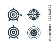 successful shoot. target set... | Shutterstock .eps vector #732363973