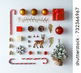 creative christmas layout made... | Shutterstock . vector #732366967