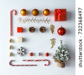 creative christmas layout made... | Shutterstock . vector #732368497