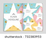 abstract vector layout... | Shutterstock .eps vector #732383953