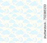 pattern for kids cute seamless  ... | Shutterstock .eps vector #732385153