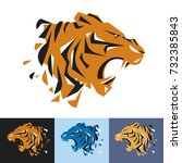 head of tiger is a logo... | Shutterstock .eps vector #732385843