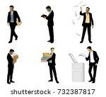 vector illustration of six...   Shutterstock .eps vector #732387817