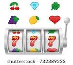 casino slot machine stock... | Shutterstock .eps vector #732389233