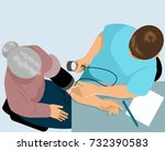 vector illustration of a doctor ... | Shutterstock .eps vector #732390583
