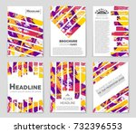 abstract vector layout... | Shutterstock .eps vector #732396553