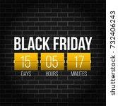 abstract vector black friday... | Shutterstock .eps vector #732406243