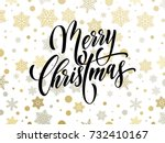 merry christmas greeting card... | Shutterstock .eps vector #732410167