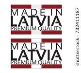 made in latvia icon  premium...   Shutterstock .eps vector #732411187