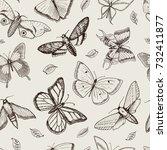 tattoo or boho t shirt or... | Shutterstock .eps vector #732411877