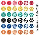 flowers icons set vector | Shutterstock .eps vector #732420343