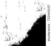 grunge background vector black... | Shutterstock .eps vector #732443107