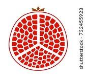 pomegranate icon | Shutterstock .eps vector #732455923