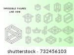 impossible figures  outline ...   Shutterstock .eps vector #732456103
