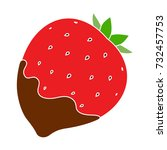 strawberry chocolate icon | Shutterstock .eps vector #732457753