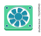 cooling fan flat icon | Shutterstock .eps vector #732459943