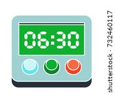 timer digital flat icon | Shutterstock .eps vector #732460117