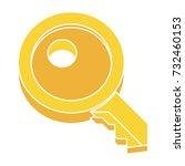 key flat icon | Shutterstock .eps vector #732460153