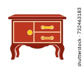 chest of drawers flat icon | Shutterstock .eps vector #732463183