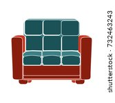 couch flat icon | Shutterstock .eps vector #732463243