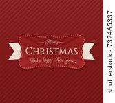 vector merry christmas...   Shutterstock .eps vector #732465337