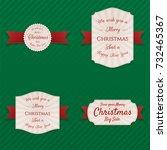 christmas realistic vector...   Shutterstock .eps vector #732465367