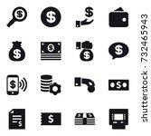 16 vector icon set   dollar... | Shutterstock .eps vector #732465943