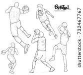 hand drawn illustration of... | Shutterstock .eps vector #732467767