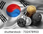stack of bitcoin  ethereum ...   Shutterstock . vector #732478903