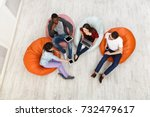 group of young multiethnic... | Shutterstock . vector #732479617