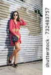 women portrait downtown | Shutterstock . vector #732483757