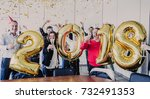 business people celebrating... | Shutterstock . vector #732491353