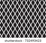 diamond shape with mesh pattern. | Shutterstock .eps vector #732493423