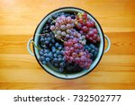 red and white grapes on wooden... | Shutterstock . vector #732502777