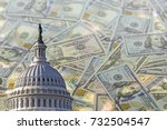 collage with us capitol... | Shutterstock . vector #732504547