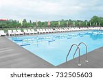 modern swimming pool  outdoors   Shutterstock . vector #732505603