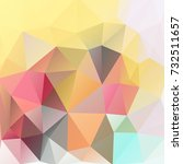 triangles polygonal print in... | Shutterstock .eps vector #732511657