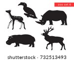 zoo animals vector logo icon... | Shutterstock .eps vector #732513493