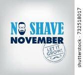 no shave november typographic... | Shutterstock .eps vector #732518017