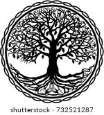 tree of life silhouette | Shutterstock .eps vector #732521287