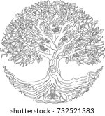 oak tree of life | Shutterstock .eps vector #732521383