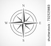 compass icon in flat design.... | Shutterstock .eps vector #732525883