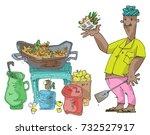 An Indian Street Food Vendor...