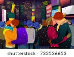 a vector illustration of... | Shutterstock .eps vector #732536653