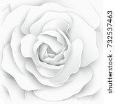 paper flower. paper rose. white ... | Shutterstock .eps vector #732537463