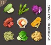 food ingredients set 11 | Shutterstock .eps vector #732549667