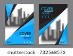 blue color scheme with city... | Shutterstock .eps vector #732568573